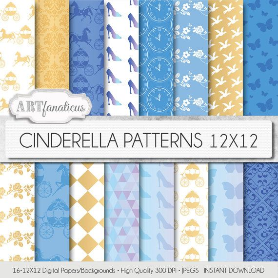 Hey, I found this really awesome Etsy listing at https://www.etsy.com/listing/226251811/cinderella-digital-papers-cinderella