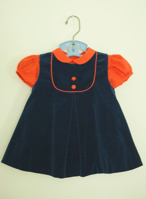 C.I Castro & Co. Baby Girl Dress Blue and by RailroadGirlVintage, $42.00