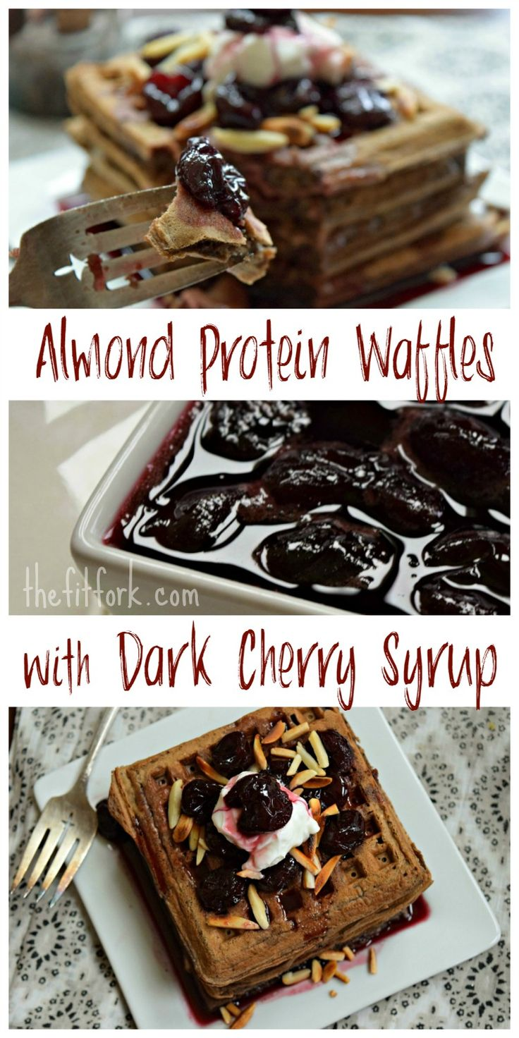 Gluten-Free Almond Protein Waffles with Dark Cherry Syrup are a better ...