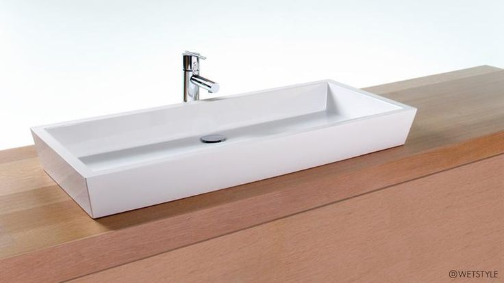 "This is the sink style we want.  Plan on using 2 faucets.  VC836A - 36"" Bathroom Trough Sink – The CUBE Collection 