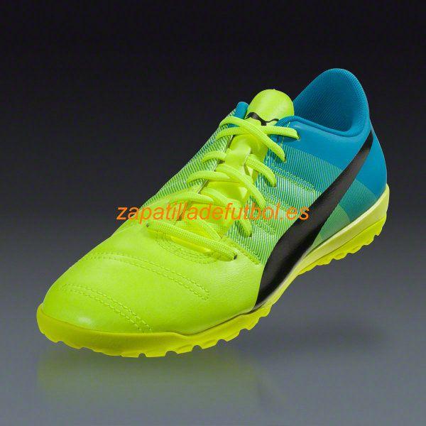 Comprar Zapatillas de futbol Sala Puma Evopower 4.3 TT Turf Amarillo Negro Azul Atomica