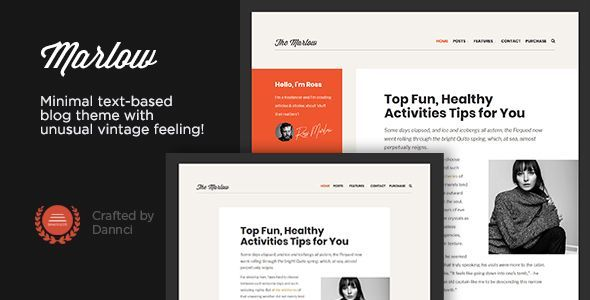 Marlow Distinctive Typography First Wordpress Blog Theme By Dannci Stand Out Wordpress Blog Themes Ide Blog Themes Wordpress Blog Themes Blog Theme Ideas