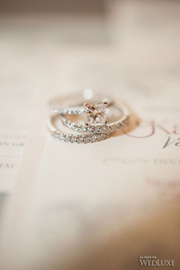 Wedding Ring Bands >> WedLuxe – Karine + Sean | Photography by: AMB Photo Follow @WedLuxe for more wedding inspiration ...