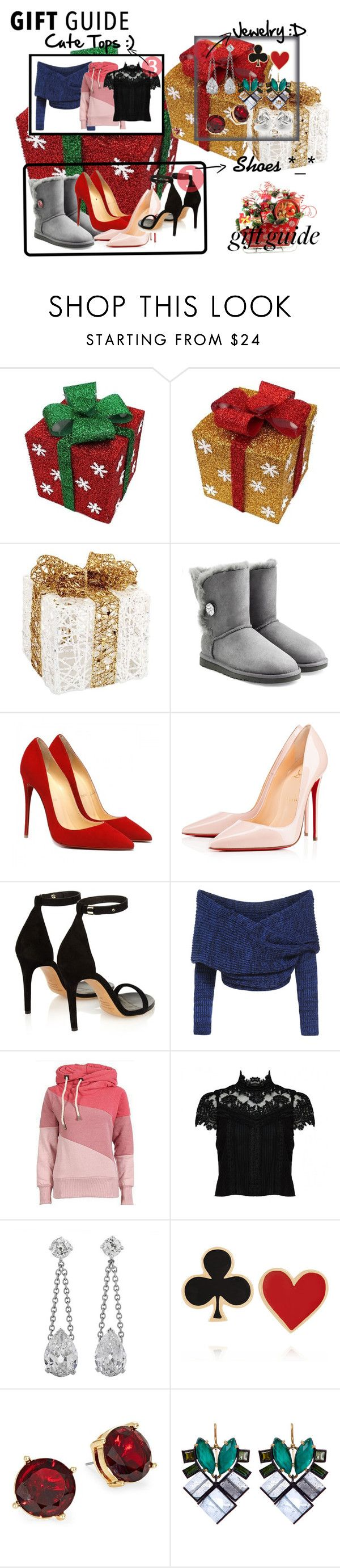 """""""Gift Guide"""" by senida-th ❤ liked on Polyvore featuring Melrose International, UGG Australia, Christian Louboutin, Isabel Marant, Alice + Olivia, Alison Lou, Lauren Ralph Lauren, Nak Armstrong, Georgini and giftguide"""