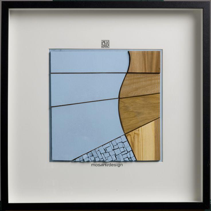 azzurro sinuoso - mosaico azzurro sinuoso - mosaic