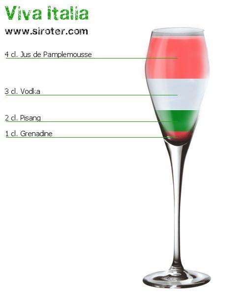 Cocktail Viva italia : Recette, préparation et avis - Siroter.