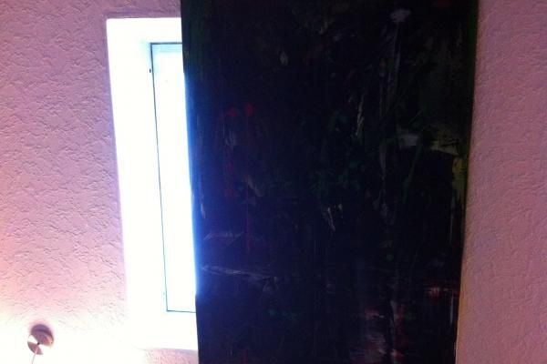 Dachfenster mit Leinwandbild verdunkeln
