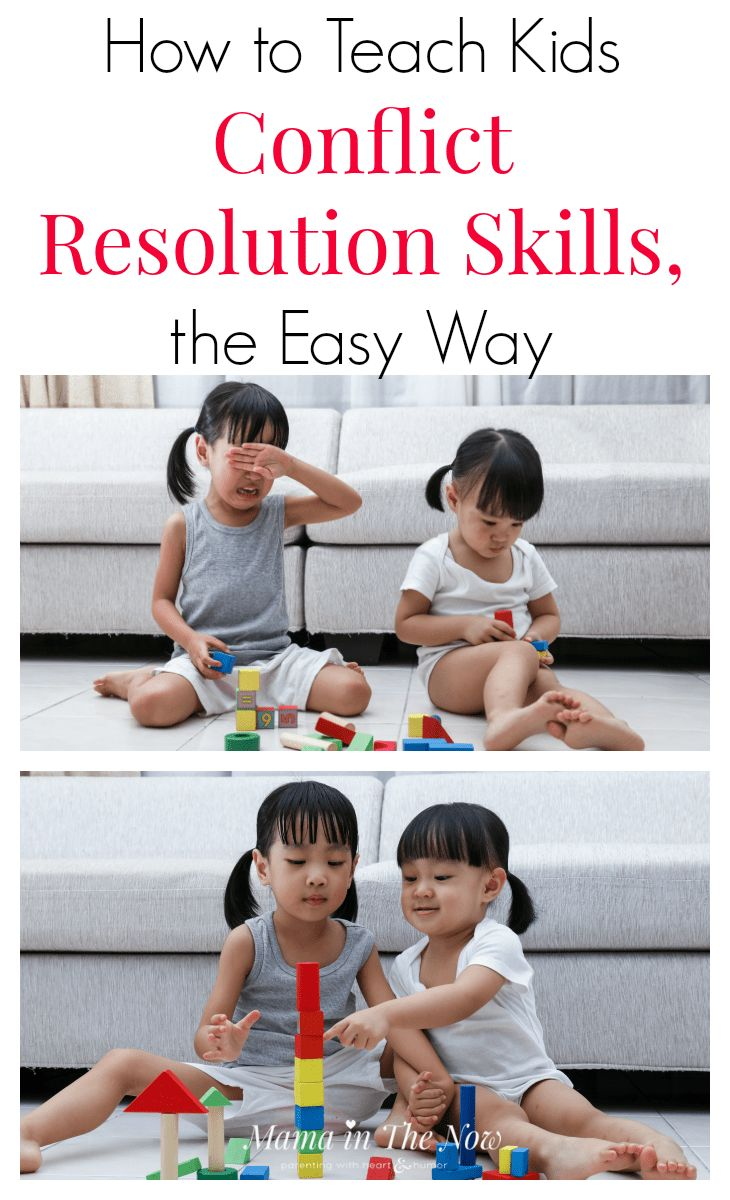 """Teach your kids conflict resolution skills the Danish way, also known as """"the easy way."""" Play-based parenting and learning is the best way for kids to learn and absorb information. Positive parenting trick and tips from a Danish mother of four. End sibling arguments and rivalries with these easy parenting tips!"""