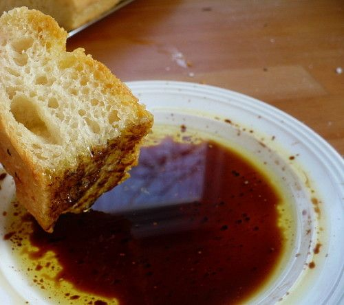 Homemade Focaccia Bread with Balsamic Oil Dip