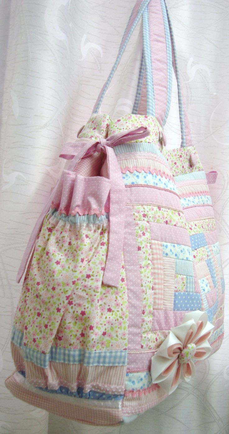 SHABBY CHIC PATCHWORK DIAPER BAG