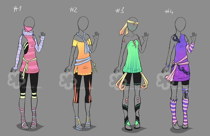 Colorful Outfits #13 - sold by Nahemii-san on DeviantArt