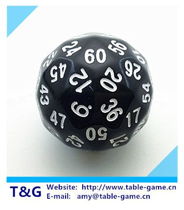T&G dice 1pc High quality 60 sided dice,D60 dice,polyhedral dice for board game,number 1-60,Dungeon and Dragons rpg d&d dados
