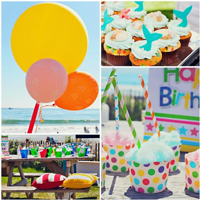 End Of Summer Vintage Beach Party With Lots Cute Ideas Via Karas KarasPartyIdeas