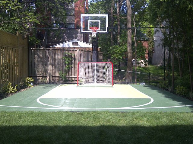 40 best sport court images on pinterest backyard for Backyard sport court