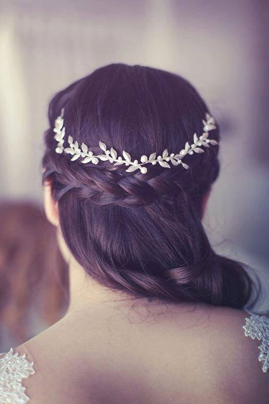 Elegant Wedding Hairstyles with Headpieces by Aya Jewellery - MODwedding