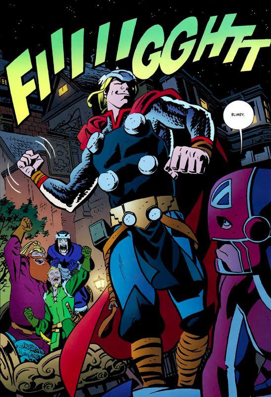 "rockofeternity: "" Thor, the Mighty Avenger Art by Chris Samnee & Matt Wilson Story by Roger Langridge """
