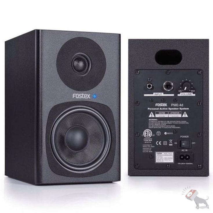 "Fostex PM0 4D Personal Active Studio Speaker 4"" 2 Way Monitor System Pair Black   eBay"
