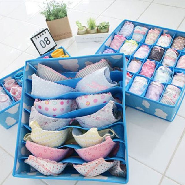 198 best orden con marie kondo images on pinterest organization good idea to organize bras and underwear mine always get so lost in my drawers solutioingenieria Image collections