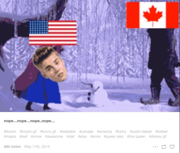When they continued their eternal struggle: | 14 Hilarious Tumblr Conversations Between America And Canada