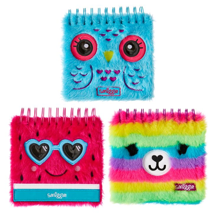 Fluffy Faces Notebook Jotter   Smiggle