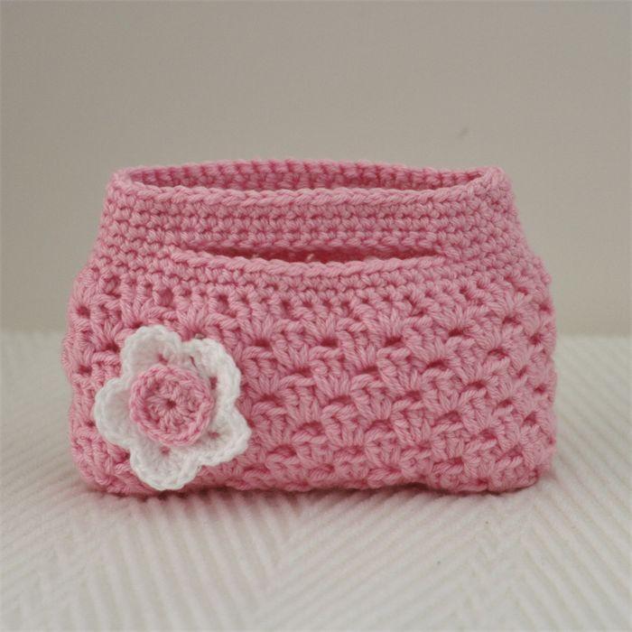 Little Girl's Crocheted Bag - Pastel Pink