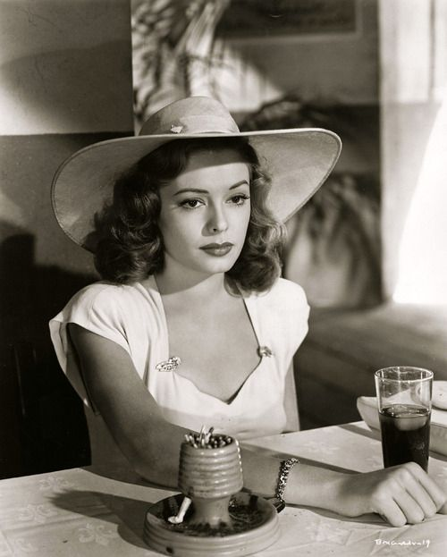 "Jane Greer in ""Out of the Past"" - classic film noir"