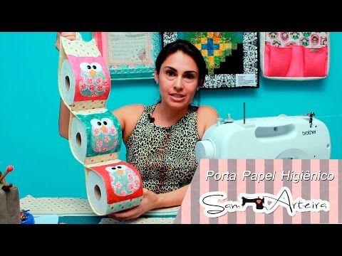 Porta Papel Higiênico de Cachorrinho de Tecido Sem Costura - DIY Artesanato - YouTube