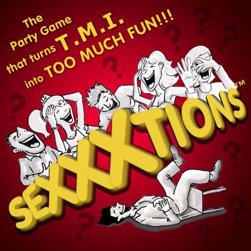 SEXXXtions - The Hilarious TMI game for adults is just one of many ideas offered on this page for grownup Valentine's Day party game fun