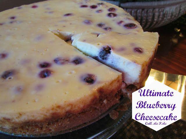 Ultimate Blueberry Cheesecake #blueberry #cheesecake #callmepmc