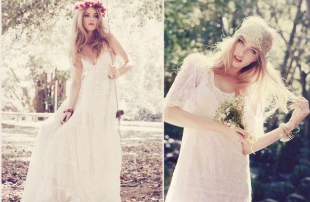 Hochzeitskleid Hippie Look Schalelan Tk