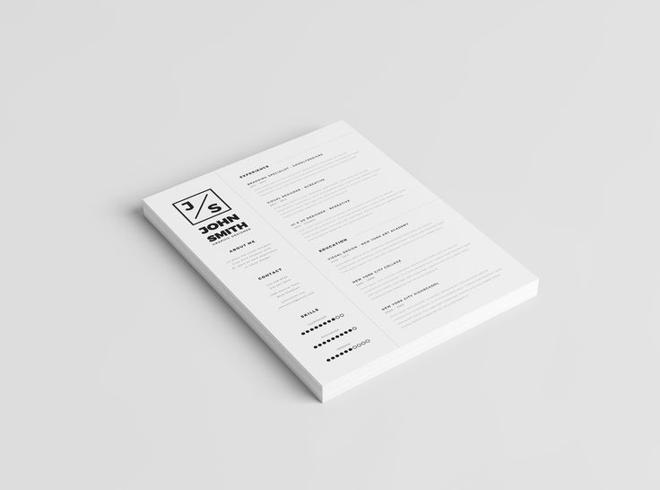 Minimalistic Resume Template + Cover Letter Template | 2016 Resume Template | MS Word