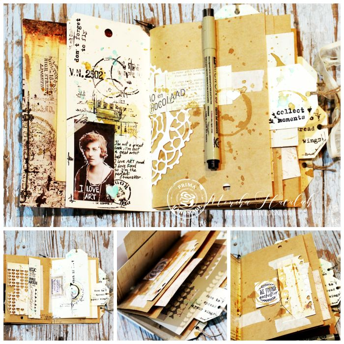Junk Journal ny Monika for Prima #mixedmedia #journal #artbook #primamarketing