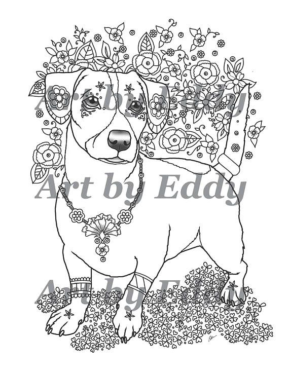 14 best Art of Jack Russell Terrier Coloring Book images