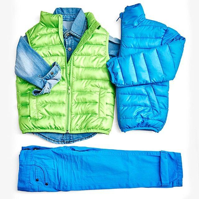 Новая коллекция для мальчиков 3-8 лет Spring '15. Жилет 999₽, куртка утепленная 1299₽, брюки 799₽, джинсовая рубашка 799₽.