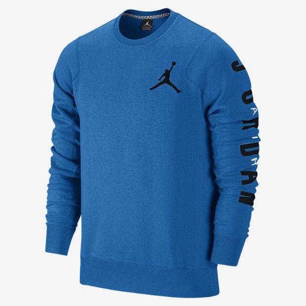 Jordan Flight Classic Fleece Crew Mens Sweatshirt Crewnecks