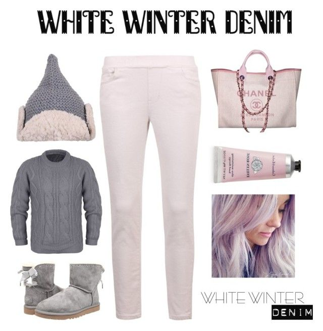"""""""ililily White Winter Denim"""" by ililily ❤ liked on Polyvore featuring UGG Australia, Chanel and Therapy"""