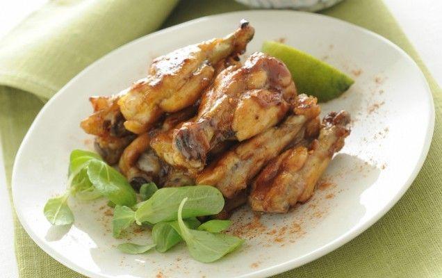 Φτερούγες κοτόπουλου με μέλι και σάλτσα σόγιας