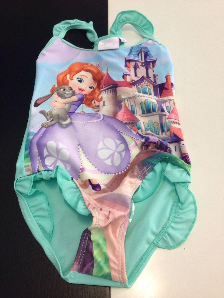 Costume da bagno intero mare piscina bambina Principessa Sofia Disney 2 anni