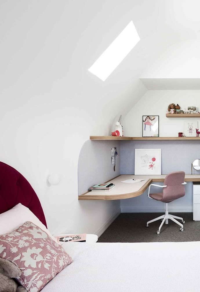 A Clever Attic Conversion Resulted In Two Incredible Kid S Bedrooms Home Office Design Attic Conversion Traditional Renovation