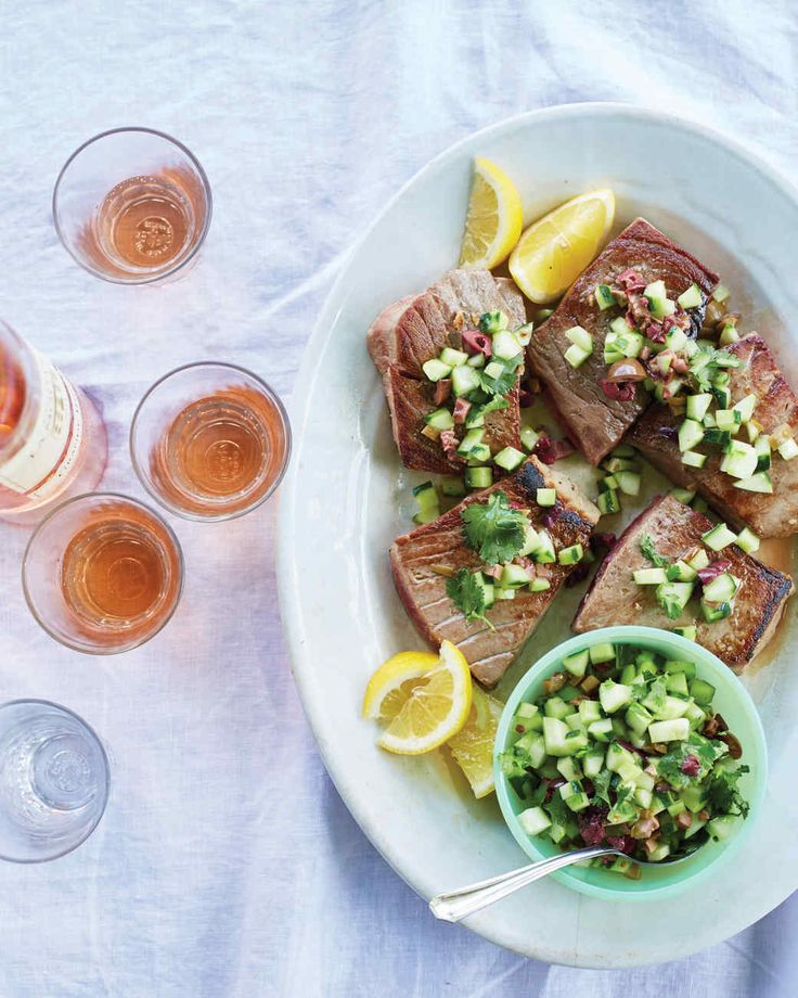 This recipe, courtesy of Lost Kitchen chef and owner Erin French, also works very well with salmon or swordfish.