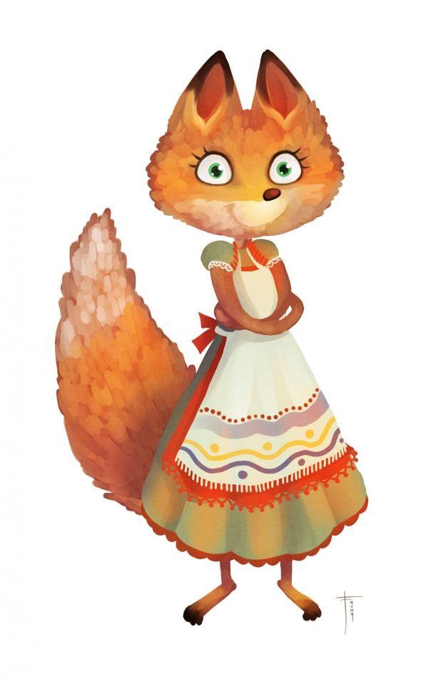 Лисичка сказочный герой картинки она