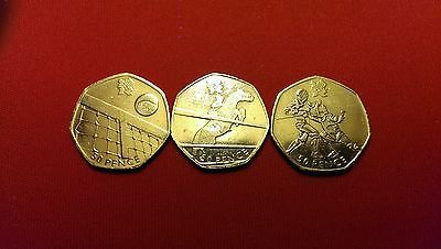 3 rare #olympic 50p #tennis,showjumping,fencing,  View more on the LINK: 	http://www.zeppy.io/product/gb/2/262812081900/
