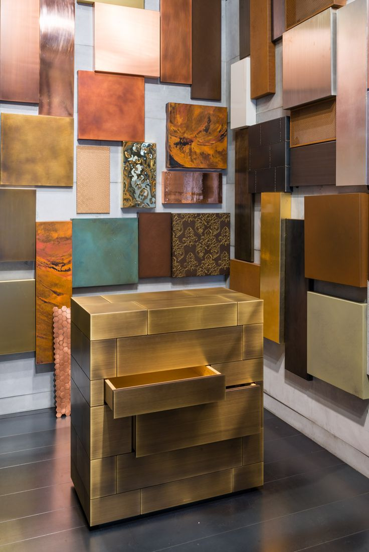CELATO, Chest Of Drawers. Brass Délabré Striped Finish. WUNDERKAMMER  Collection Design Nikita Bettoni