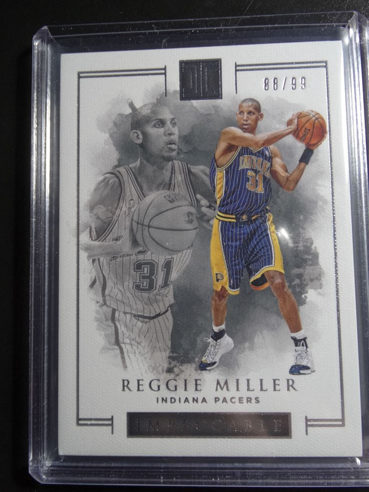 2016-17 Impeccable #35 Reggie Miller Indiana Pacers Basketball Card 88/99  #IndianaPacers