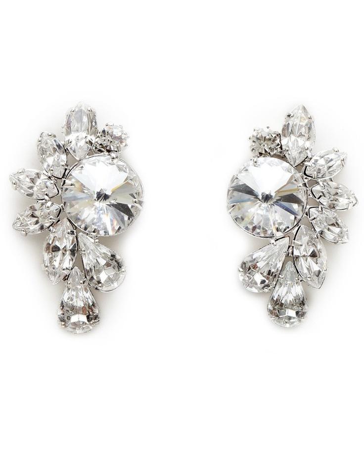 ACCESSORIES FOR MOM: CIVETTA SPARK Swarovski Crystal Earrings