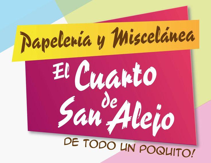 Diseño de Logo para El Cuarto de San Alejo Angiee Padilla© 2016 todos los derechos reservados. #Diseño #Logo #Papelería #Detodounpoquito