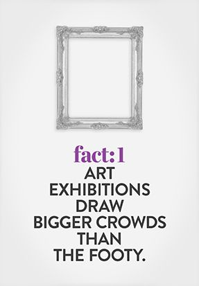 With around 11 million visitors a year, galleries are now more highly attended than Australia's most popular spectator sport, Australian Rules Football, which had 10 million attendances in 2009-10.