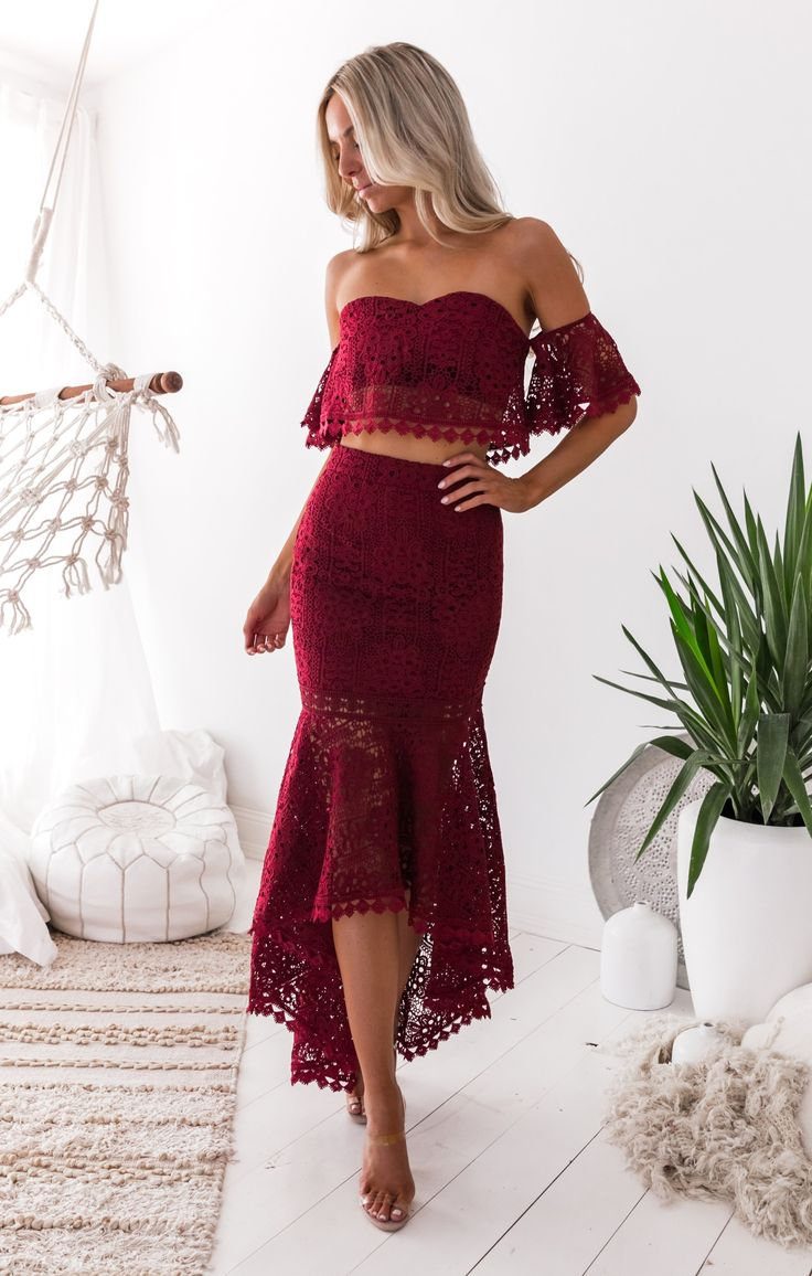 Two Sisters the Label - Celine Lace Set - Burgundy