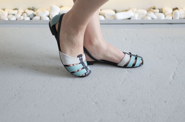 Julia - Blue - FREE SHIPPING Handmade Leather Shoes by Keymandesign on Etsy