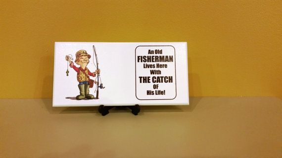 Grandad Fishing PlaqueDad PlaquePainted plaqueGift by SKPRODUCTS1